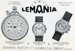 Lemania vintage ad
