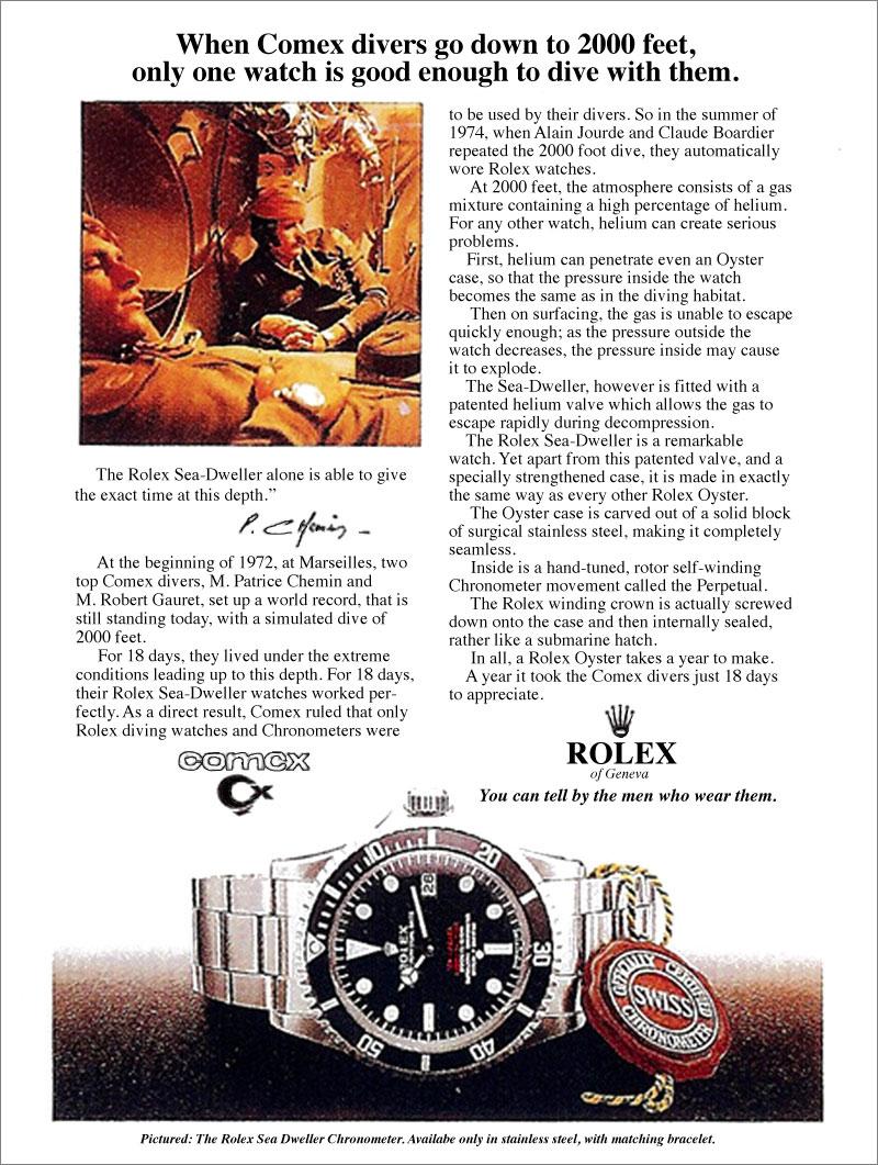 ROLEX&COMEX 1ST AD